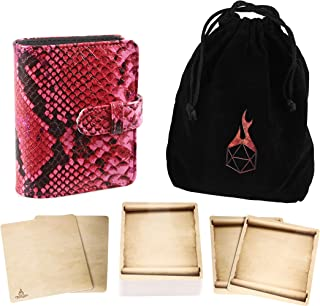 Forged Dice Co Spellbook of Incantations (Mystical Dragon Skin Edition) Spellbook Card Holder & Deck of Dry Erase Cards wi...