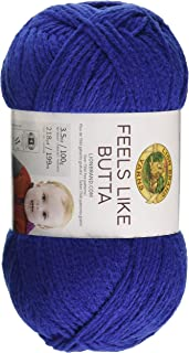 Lion Brand Yarn 215-109 Feels Like Butta Yarn, Royal Blue