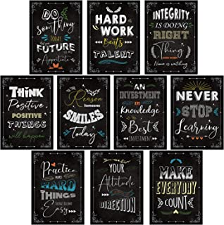 Rainbow Arts - Set of 10 Motivational Quotes Wall Posters for Room Home Bedroom Office Wall Decor - Motivational Wall Post...