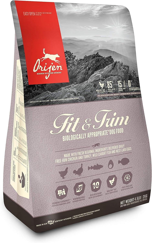 Orijen FIT &m Dry Dog Food 4.5 lb. Bag