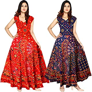 d4bf14b67970 New Radhika Enterprises Women's Cotton Nighty/Dress (Multicolour, Free  Size) Pack of
