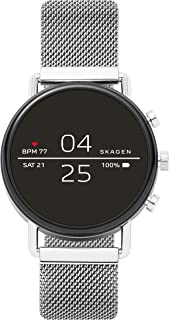 Connected Falster 2 Stainless Steel Touchscreen Smartwatch with Heart Rate, GPS, NFC, and Smartphone Notifications