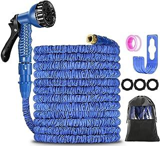 Garden Hose 100FT ,Expanding Garden Water Hose Pipe with 7 Function Spray Gun, 3 Times Expandable Watering Hose ,Flexible ...