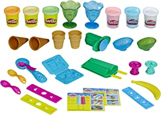 Play-Doh Kitchen Creations Ice Cream Party Play Food Set with 6 Non-Toxic Colors, 2 Oz Cans