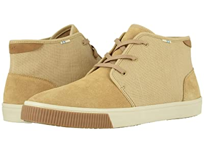 TOMS Carlo Mid (Desert Tan Suede/Heritage Canvas) Men