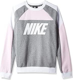 Nike Women's CREW FLC CB Sweatshirts, Pink Size Medium (NKAV8292)