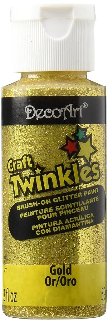 DecoArt Craft Twinkle Paint, 2-Ounce, Gold