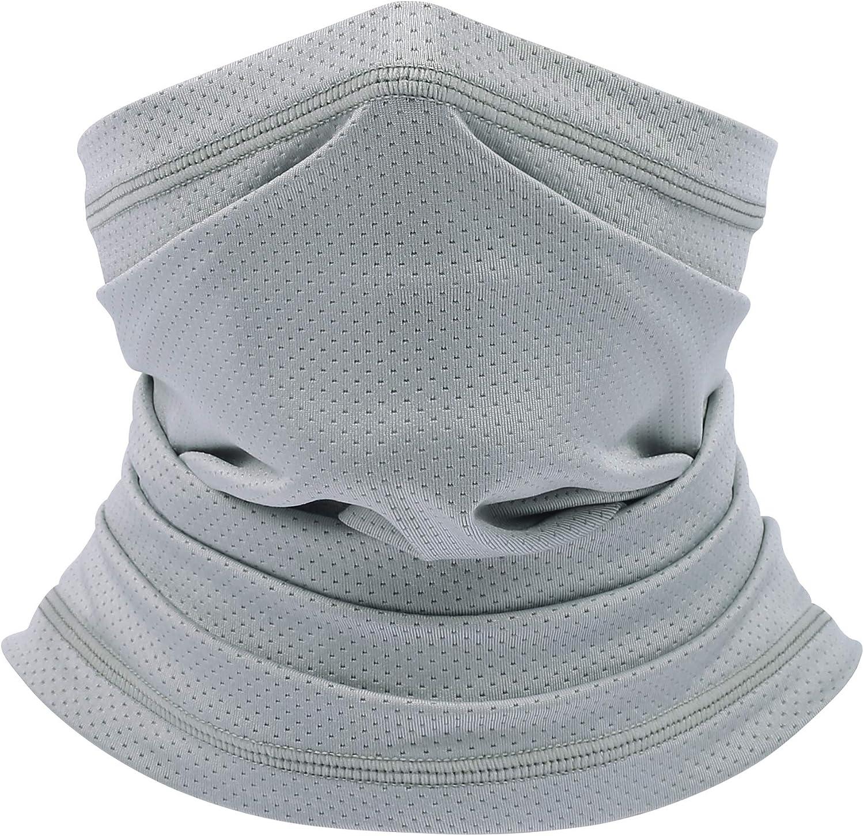 Mesh Neck Gaiter Face Mask, UV Protection,Face Scarf Bandana, Breathable Face Mask Lightweight