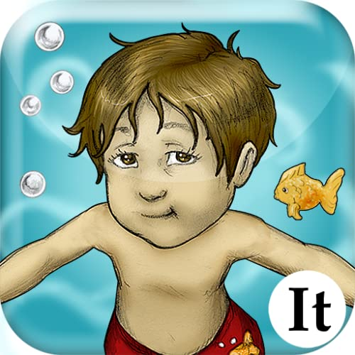 Luca Lashes has his First Swimming Lesson (Italian)