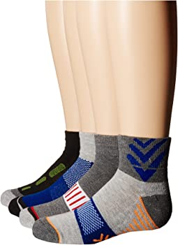 Tech Sport Half Cushion Quarter Socks 6-Pair Pack (Toddler/Little Kid/Big Kid/Adult)