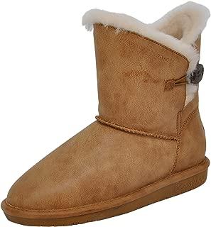 BEARPAW Women's Rosie Winter Boot, Hickory, 7.5