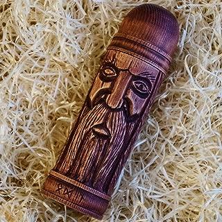 Wooden rune Box, Odin Thor Freyr statue, Futarkh, Viking Scandinavian Norse Idol Asatru Pagan Art Wood Carving Hand Made Decor FREE SHIPPING handcrafted gift