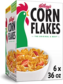 Sponsored Ad - Kellogg's Corn Flakes, Breakfast Cereal, Original, 36oz (6 Count)