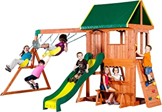 oakmont cedar wooden swing set