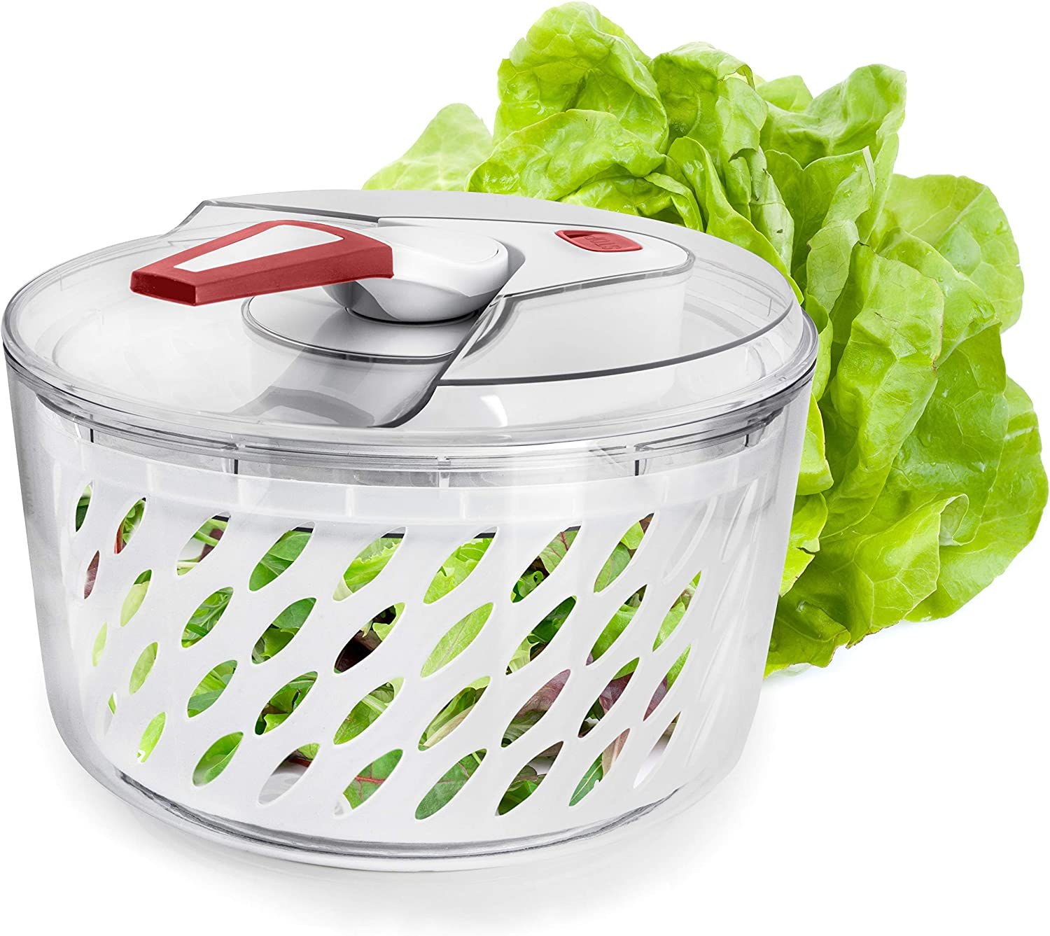Valore Large Salad Spinner with Serving Max 75% OFF Bowl to U Lid Max 46% OFF Easy - and