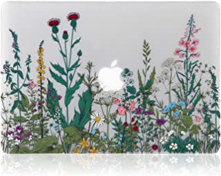 iDonzon MacBook Pro 13 inch Case 2012-2015 Release, 3D Effect Matte See Through Hard Case Cover Only Compatible MacBook Pro 13 with Retina Display (A1502/A1425, NO CD-ROM Drive) - Garden Flowers
