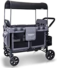 Best WONDERFOLD W4 4 Seater Multi-Function Quad Stroller Wagon with Removable Raised Seats and Slidable Canopy, Gray Review