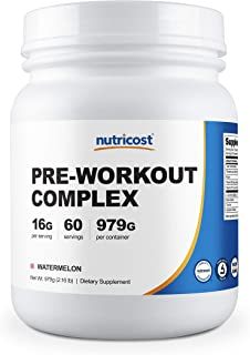Nutricost Pre-Workout Complex Powder Watermelon (60 Serv)