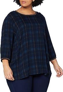 TOM TAILOR MY TRUE ME Fabric Mix Camiseta para Mujer