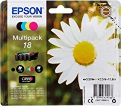 Epson 18 Daisy Genuine Multipack, 4-colours Ink Cartridges, Claria Home Ink, Amazon Dash Replenishment Ready