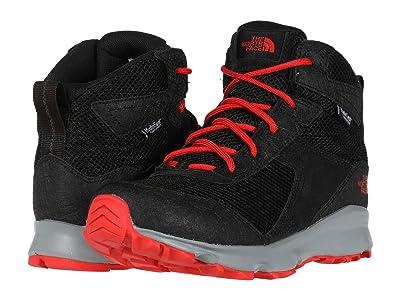 The North Face Kids Hedgehog Hiker II Mid Waterproof (Little Kid/Big Kid) (TNF Black/Fiery Red) Boys Shoes