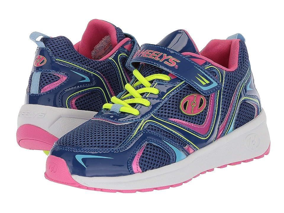 Heelys Rise X2 Little Kid/Big Kid) (Blue/Pink/Yellow) Girls Shoes