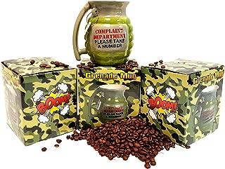 Grenade Shaped Mug, Novelty Gag Gift Mug, Ceramic Mug (1)