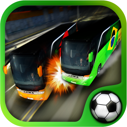 Soccer Team Bus Battle - World Cup 2014