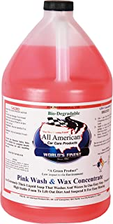All American Car Care Products Pink Wash & Wax Concentrate (1 Gallon) - One Step Liquid Poly Soap and Protective Wax for Fine Automobiles, Boats, RV, Motorcycle