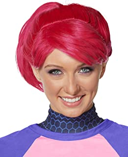 Spirit Halloween Fortnite Brite Bomber Wig for Adults   Officially Licensed Pink