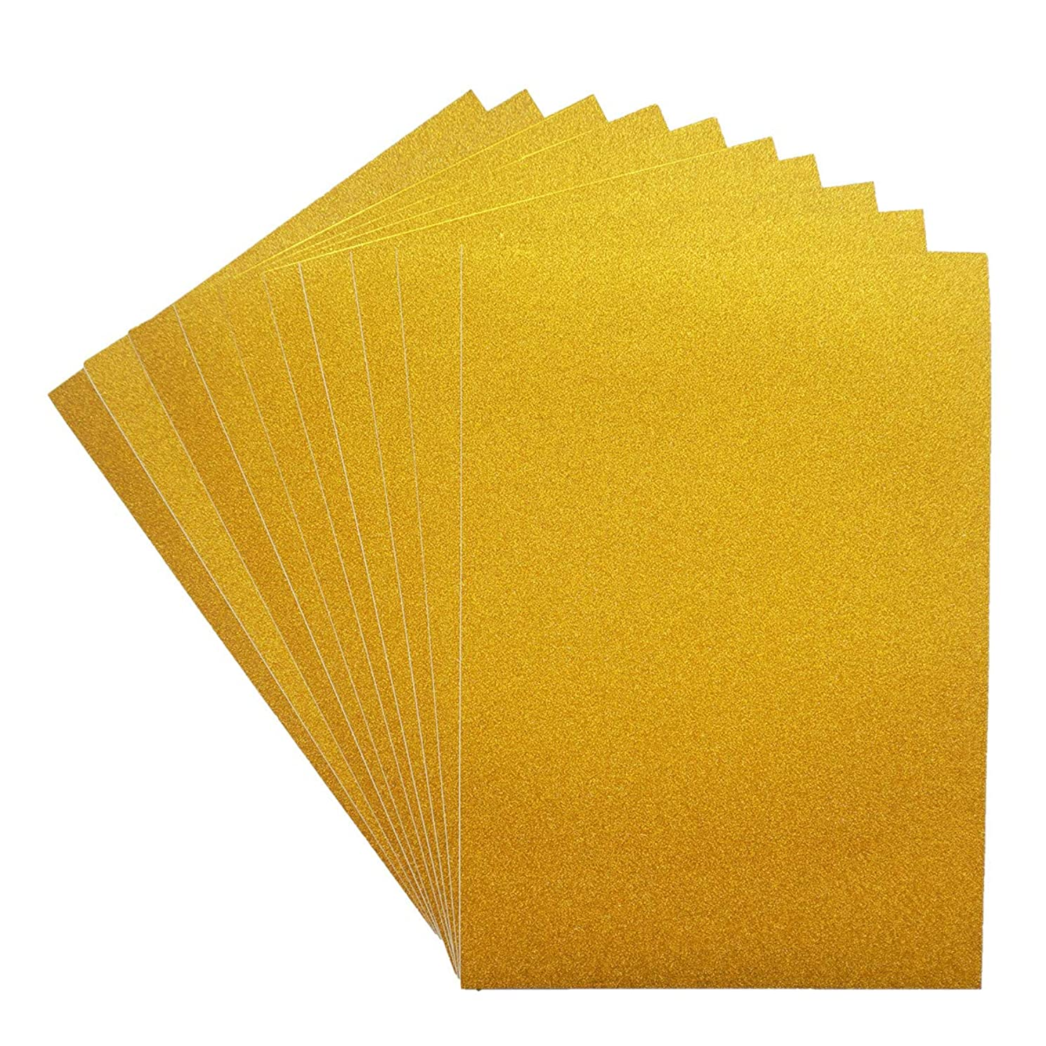 Misscrafts Adhesive Sheets 10 Sheets Adhesive Glitter Paper 12