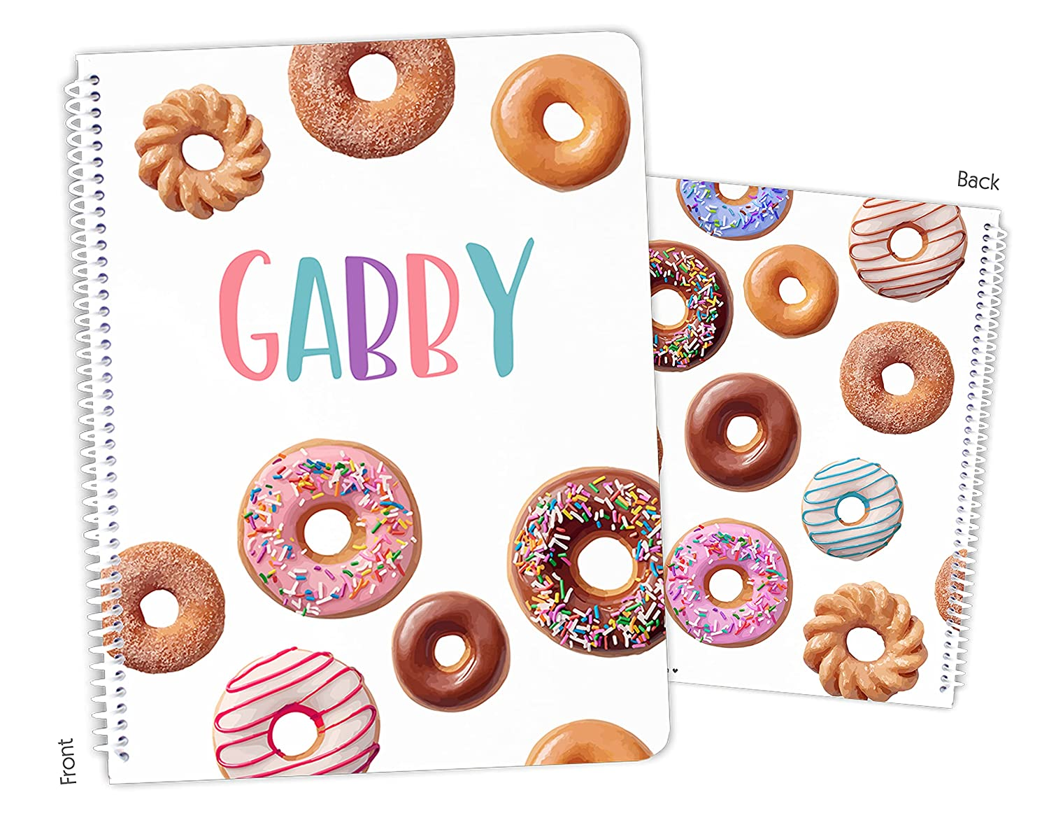 Personalized Denver Mall Donut Doughnuts Spiral Sketchbook Bound Notebook Max 88% OFF