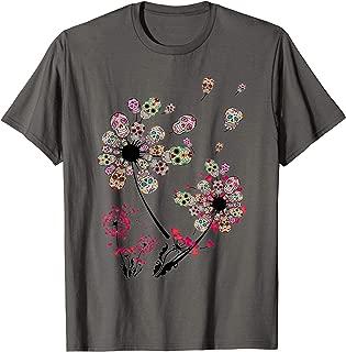 Dandelion sugar skulls flower sugar skull dandelion t-shirt
