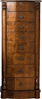 Hives & Honey 9006-622 Antoinette Jewelry Armoire Storage Organization Cabinet Necklace Holder, Large, Antique Walnut