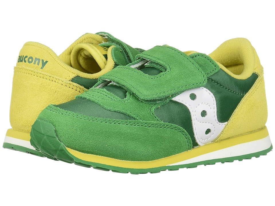 Saucony Kids Originals Jazz Hook Loop (Toddler/Little Kid) (Green/Yellow 2) Boys Shoes