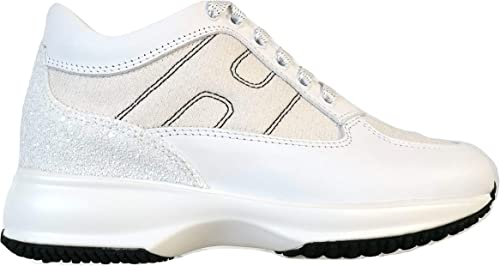 Hogan Scarpe Sneaker Donna Interactive Pelle e Glitter ...
