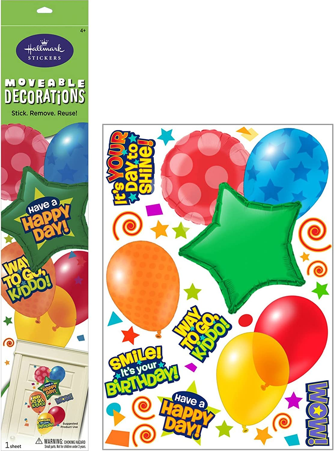 Balloons Removable Wall Decorations Party Accessory by Hallmark