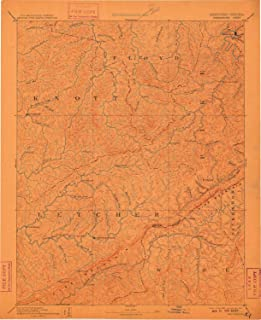 YellowMaps Whitesburg KY topo map, 1:125000 Scale, 30 X 30 Minute, Historical, 1892, Updated 1910, 19.7 x 16 in