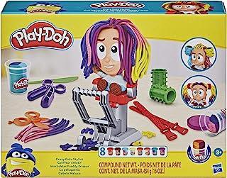 Play-Doh Crazy Cuts Stylist Hair Salon وانمود می کنند اسباب بازی بازی برای کودکان 3 سال به بالا با 8 قوطی سه رنگ ، هر کدام 2 اونس ، غیر سمی است
