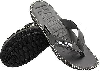 HANERDUN Mens Lightweight Flip Flops Non Slip Beach Sandals