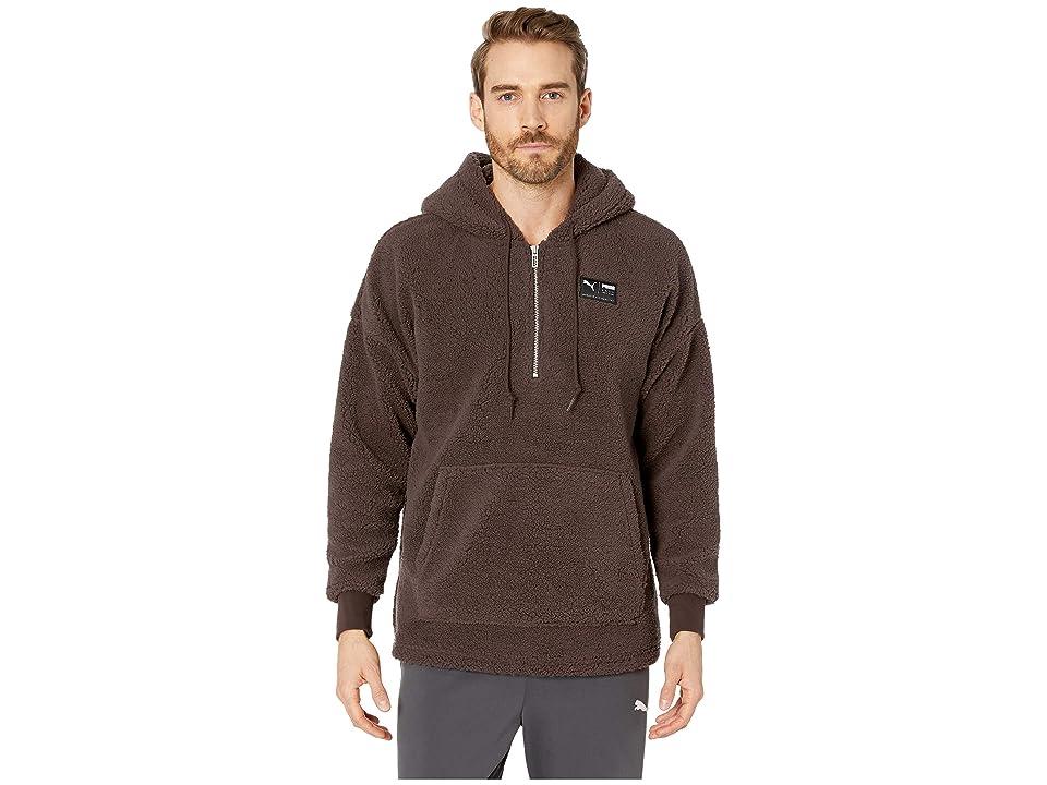 PUMA Downtown Sherpa 1/2 Zip Top (Mole) Men