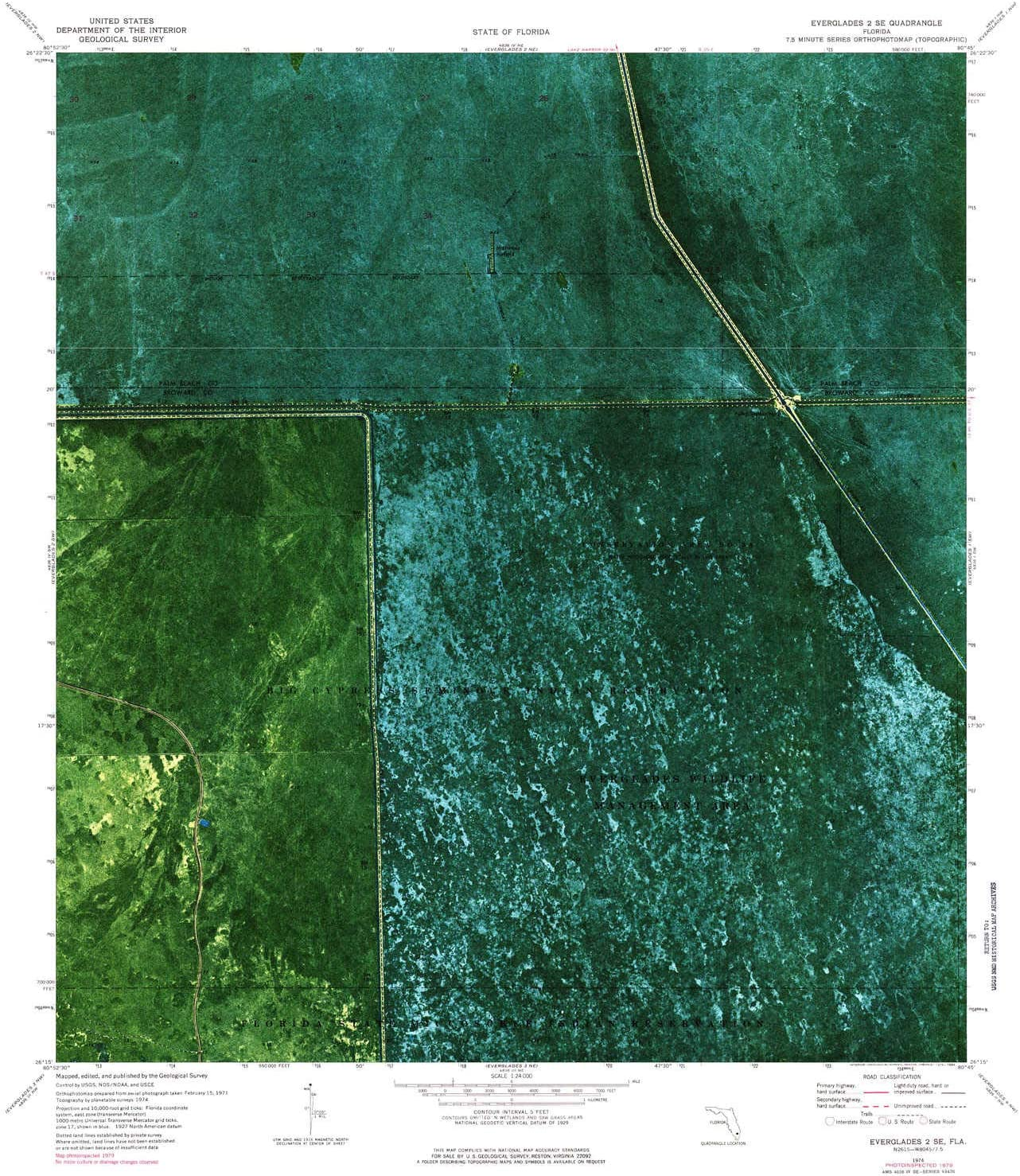 YellowMaps Everglades Don't miss the campaign 2 Popular product SE FL topo 7.5 1:24000 X Scale map