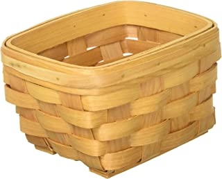 Darice 12.5 inch Wood Country Basket with Moveable Handles