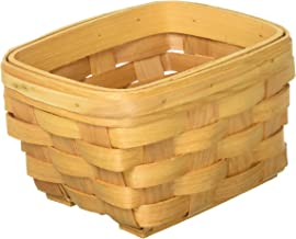 Darice, 6.5 by 4.5 inch, Rectangle Wood Country Basket