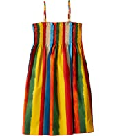 Dolce & Gabbana Kids - Painterly Striped Poplin Dress (Big Kids)
