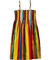 Dolce & Gabbana Kids - Painterly Striped Poplin Dress (Big Kids)