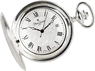 Pierre Laurent Swiss Made Solid Sterling Silver Quartz Pocket Watch 5304