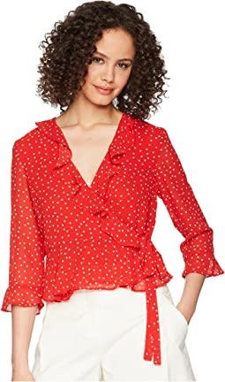 Bardot Spotty Wrap Top