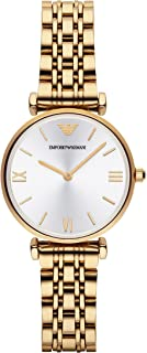 Emporio Armani Women's White Dial Stainless Steel Band Watch - Ar1877, Analog Display, Quartz Movement