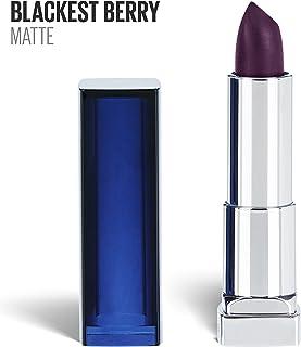 Maybelline New York Color Sensational Purple Lipstick Matte Lipstick, Blackest Berry, 0.15 oz